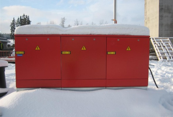 Finland. CHP Site Temporal Electrical Installations